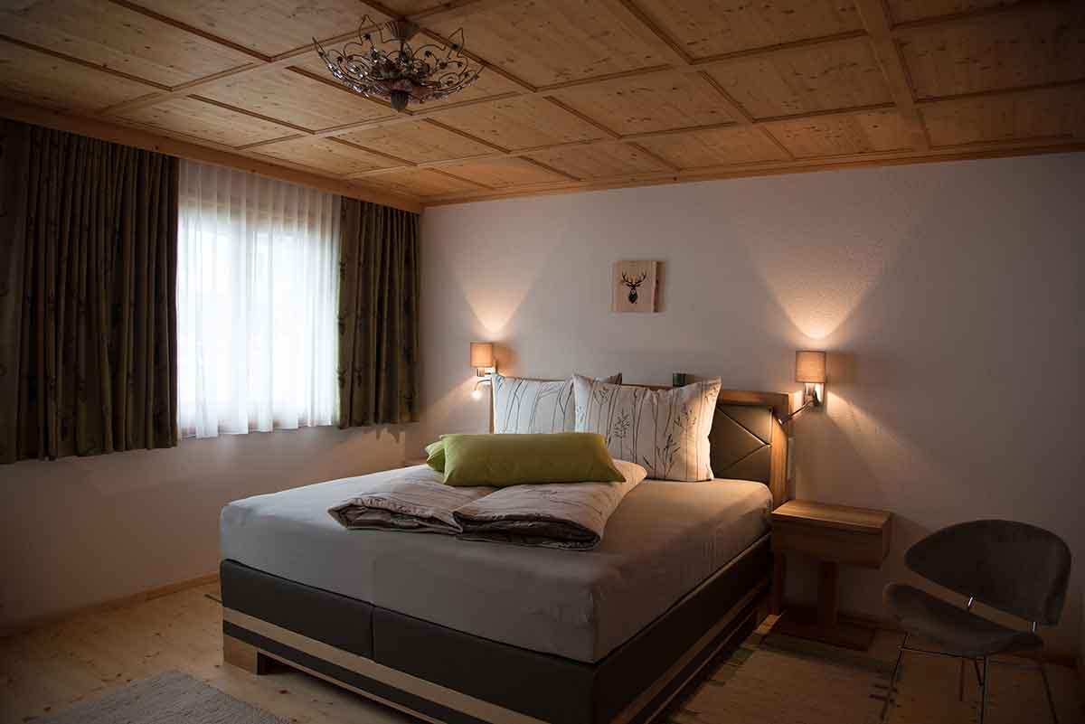 Schlafzimmer im Ferienhaus Alpsteig