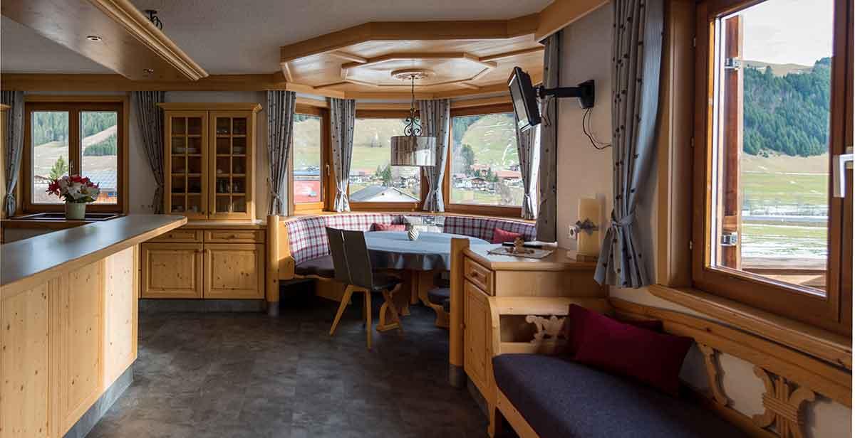Esszimmer im Ferienhaus Alpsteig
